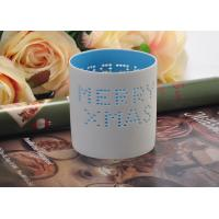 Wholesale High Temperature Hollow ceramic tealight candle holders for Christmas , Different Patterns from china suppliers