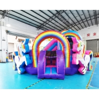 Buy cheap Unicorn Jumping Castle Inflatable Bouncer Bounce House Combo from wholesalers