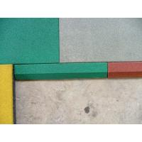 China Outdoor Playground Rubber Mats 50 x 50 x 2.5 cm Shockproof Colorful on sale