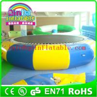 Wholesale wholesale swimming pool trampoline inflatable water jumping bed inflatable water bouncer from china suppliers