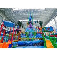 Wholesale Colorful Amusement Park Water House Aqua Playground Fiberglass Material Durable from china suppliers