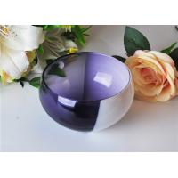 Quality 472ML Pure Handmade Glass Candle Bowl With Two Colors For Home Fragrance for sale