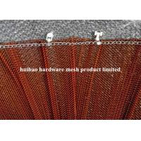 Buy cheap 6 Meter Width Copper Plated Metal Mesh Drapery with Track For Room Divider from wholesalers