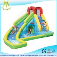 China Hansel 2017 hot selling commercial PVC outdoor inflatable play area water slide rental on sale