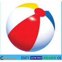 Buy cheap Rainbow Inflatable Beach Ball 6 Panels Type Phthalate Free PVC Vinyl Material from wholesalers
