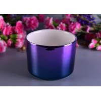 Wholesale Colorful Painting Electroplated Candle Holder Ceramic Different Sizes Available from china suppliers