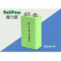 Quality Rapid Charge 180mAh 9V Rechargeable Nimh Batteries For Industrial for sale