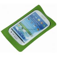 Wholesale TPU coated 210D Fabric Waterproof Phone Pouches, Waterproof Phone Bags with Clear Window from china suppliers