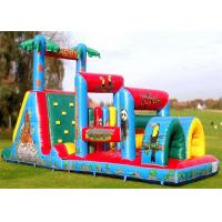 Quality Commercial Inflatable Obstacle Course , Adult And Kid Blow Up Obstacle Course for sale