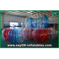 Wholesale Transparent Red / Blue Large Inflatable Sports Games Bubble Soccer 1.5m For Camping from china suppliers