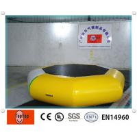 Outdoor floating water trampoline / Inflatable Water Bouncer for entertainment water games