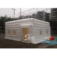China 6x6m small white pvc inflatable cube tent with removable windows on 4 sides on sale