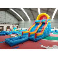 Wholesale Strong Blow Up Bouncy Water Slide , Bouncy Castle Slide Pool Wind - Resistant from china suppliers