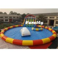 Wholesale Water Trampoline Inflatable Water Park , Giant Water Pool Water Slide Iceberg from china suppliers