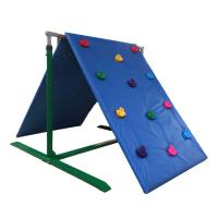 Wholesale Customized Color Kids Backyard Climbing Wall , Plastic Childrens Rock Climbing Wall from china suppliers