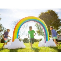 Wholesale Summer Home Backyard Waves Inflatable Rainbow Arch Sprinkler For Kids from china suppliers