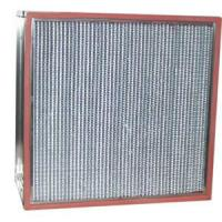 Quality Stainless Steel Frame High Temp Hepa Air Conditioning Filters Fiberglass Media for sale