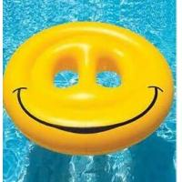 Buy cheap inflatable smile face swim ring / inflatable swim ring for adult from wholesalers