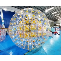 Wholesale Children 1000D Clear Ramp Inflatable Zorb Ball For Public from china suppliers