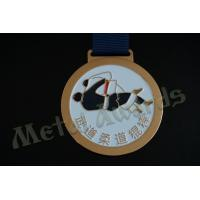Wholesale Commercial Custom Wrestling Medals , School Sports Medals Shiny Nickel Plating from china suppliers