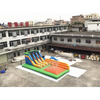 Wholesale 0.55mm PVC Tarpaulin Inflatable Combo Slide With Air Jump Game For Kids Playground from china suppliers