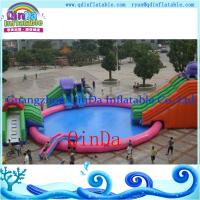 Buy cheap Giant Inflatable dragon water slides with big swimming water pool protable park from wholesalers