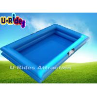 Buy cheap Giant Rectangle Inflatable Paddling Pool With Double Reinforce Strip 10m × 10m from wholesalers
