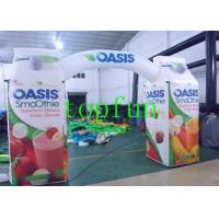 Quality Inflatable Advertising Arch Sewn Struction , Inflatable Arches Double / Quadruple Stitching for sale