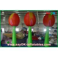 Wholesale Giant Red Inflatable Double Flower For Stage Decoration With LED Light from china suppliers
