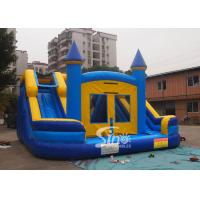 Wholesale Commercial inflatable bouncy castle with double slide and removable banner from china suppliers