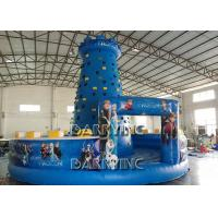 China Blue Kids Frozen Inflatable Climbing Wall Type PVC Material Inflatable Sports Arena on sale