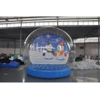 Wholesale Stock on sale inflatable snow show balls, Christmas snow globe,inflatable Christmas display ball for decoration from china suppliers