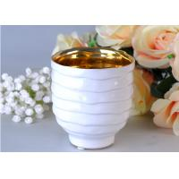 Quality Votive Personalized Candle Holder Ceramic , White Porcelain Candle Holder for sale
