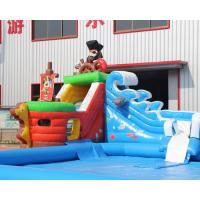 China 3 years warranty Outdoor inflatable pirate ship water slide with swimming pool, Mini inflatable water park for toddlers on sale