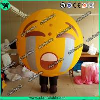 Wholesale Promotional Inflatable Mascot Costume Crying Face Ball Inflatable Walking Cartoon from china suppliers
