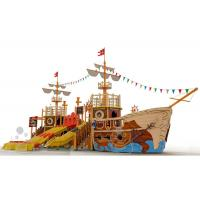 Wholesale Customized Fiberglass Pool Pirate Ship Amusement Ride Safe And Durable from china suppliers
