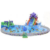 Wholesale Giant Inflatable Water Park For Kids  / Inflatable Pool With Slides from china suppliers
