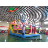 Wholesale 8 x 6M Colorful Clown Theme Inflatable Fun City Inflatable Playground Fun City For Amusement from china suppliers