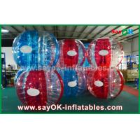 Heat Sealed Blue And Red 0.7mm TPU Inflatable Bubble Ball For Playing