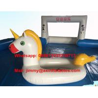 High quality 0.9MM PVC Tarpaulin Durable Pool Float Commercial Inflatable Unicorn For Sale