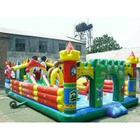 Wholesale 0.55mm PLATO Colorful PVC Tarpaulin Child Inflatable Fun City YHFC 013 for Backyard Party from china suppliers