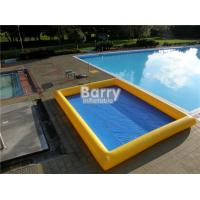 Wholesale Custom Made 0.9mm PVC Inflatable Swimming Pool Air Sealed Blue Rectangle from china suppliers