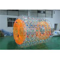 PVC 0.6 Or 0.9mm Inflatable Water Park Games , Inflatable Water Roller For Adults