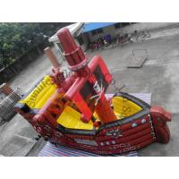 Wholesale CE / UI Blower Red Inflatable Bouncy Castles With Slides For Hire from china suppliers