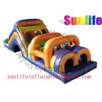 Wholesale inflatable exciting big pvc tarpaulin funny colorful obstacle course from china suppliers