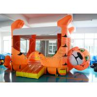 Outdoor Orange Tiger Inflatable Bounce House PVC For Kids Birthday Party