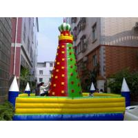 Wholesale PVC Tarpaulin Inflatable Rock Climbing Wall With Excellent peeling from china suppliers