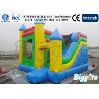 Wholesale Commercial Inflatable Children Slide 18oz 0.55mm PVC Tarpaulin With Bouncer from china suppliers