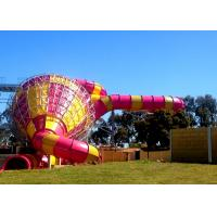 Wholesale Big Commercial Pool Water Slides / Funnel Water Slide Customized Size from china suppliers