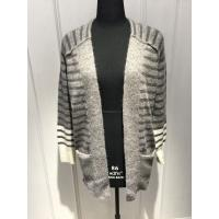 Wholesale Stripe Womens Cardigan Sweaters With Wool Nylon Alpaca Material 7 Big Gauge Size from china suppliers